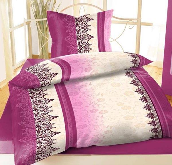 8 tlg bettw sche 135 x 200 wasserlilien blumen ornamente grau flieder lila neu ebay. Black Bedroom Furniture Sets. Home Design Ideas