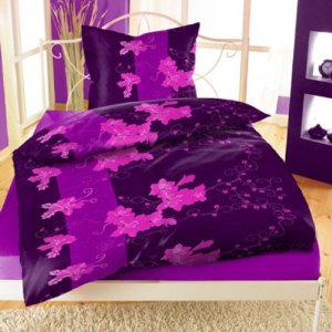bettw sche 135x200 fleece microfaser flausch lila braun. Black Bedroom Furniture Sets. Home Design Ideas