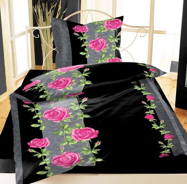 bettw sche 155x220 fleece mikrofaser flausch thermofleece lila rot schwarz neu ebay. Black Bedroom Furniture Sets. Home Design Ideas