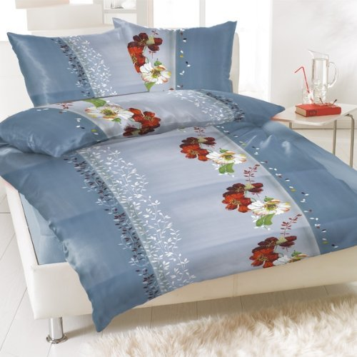 8 tlg bettw sche 135 x 200 wasserlilien blumen ornamente. Black Bedroom Furniture Sets. Home Design Ideas