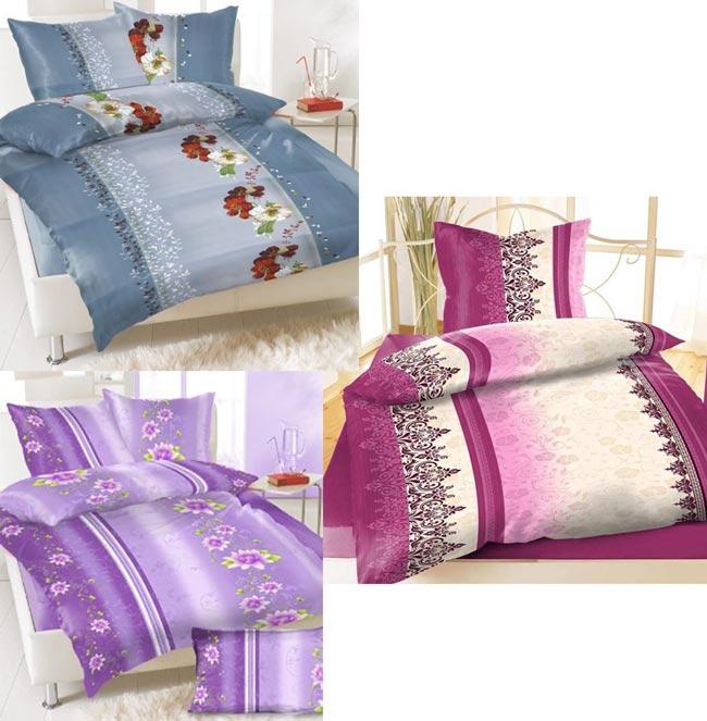 8 tlg bettw sche 135 x 200 wasserlilien blumen ornamente. Black Bedroom Furniture Sets. Home Design Ideas
