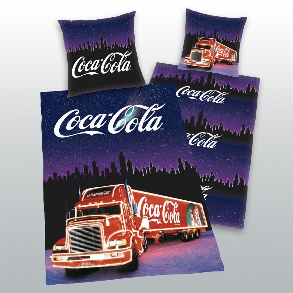 coca cola truck weihnachts bettw sche 135x200. Black Bedroom Furniture Sets. Home Design Ideas