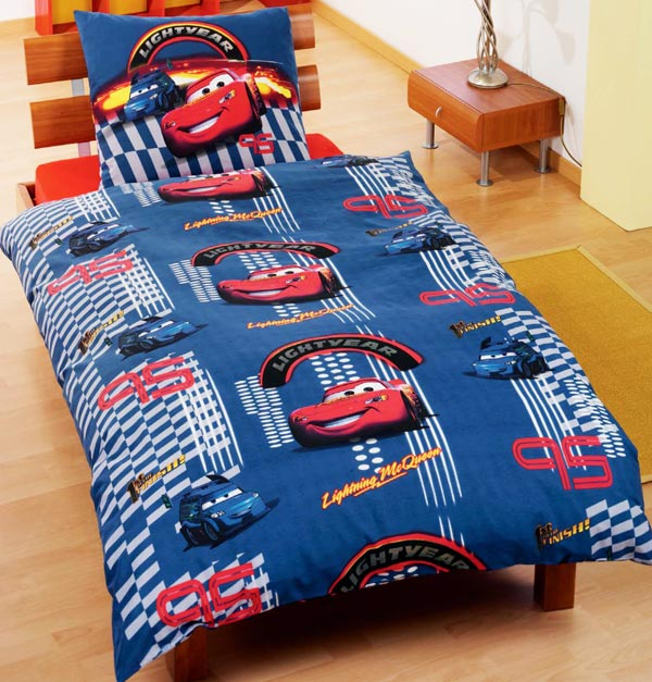 disney cars bettw sche kinderbettw sche 135x200 kino rennauto auto ps blue race ebay. Black Bedroom Furniture Sets. Home Design Ideas