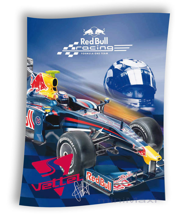 red bull decke tagesdecke kuscheldecke formel 1 vettel ebay. Black Bedroom Furniture Sets. Home Design Ideas
